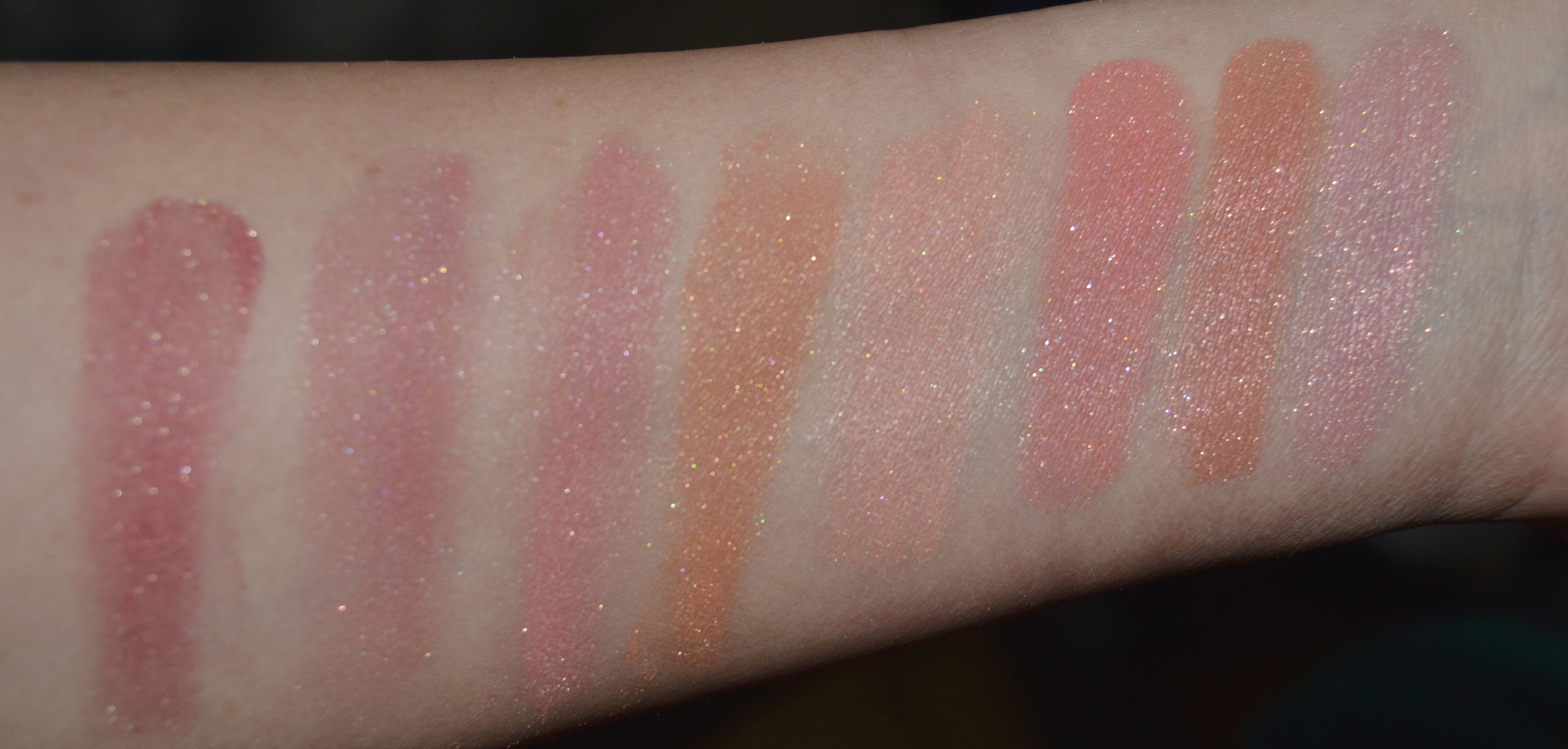 Milani Baked Swatches Redeux indoor flash